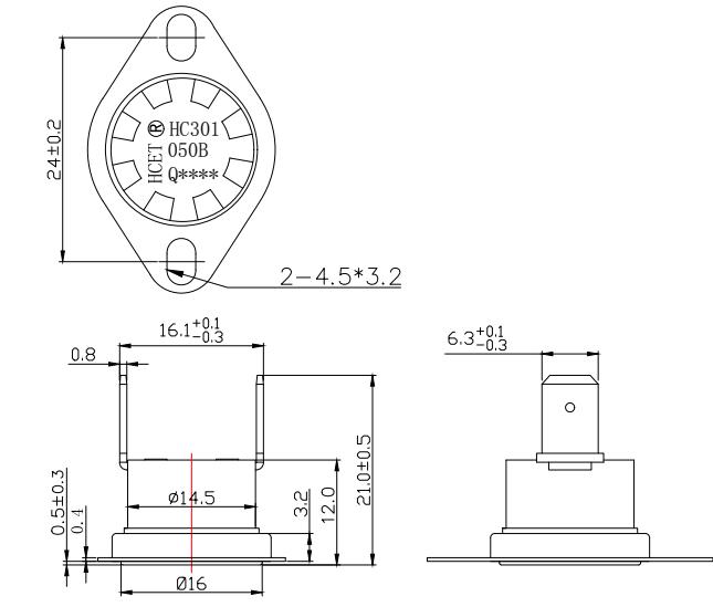 HC301系列温度控制器图纸