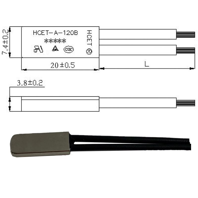ksd9700铁壳温控开关尺寸图
